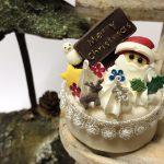 クリスマス,サンタ,ケーキ,ミニチュア,樹脂粘土,ホイップの絞り方